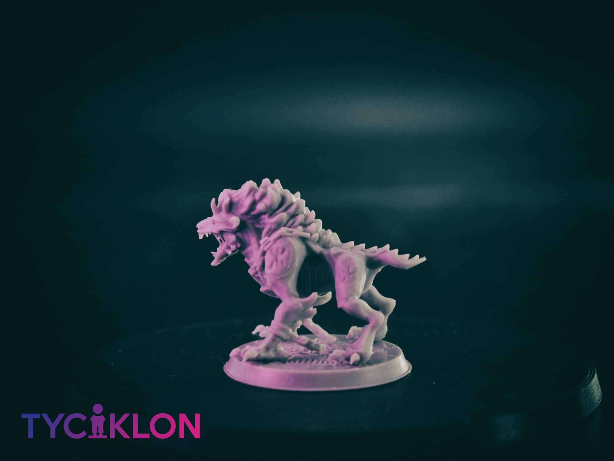 hell hound 3d printable tabletop miniature photograph