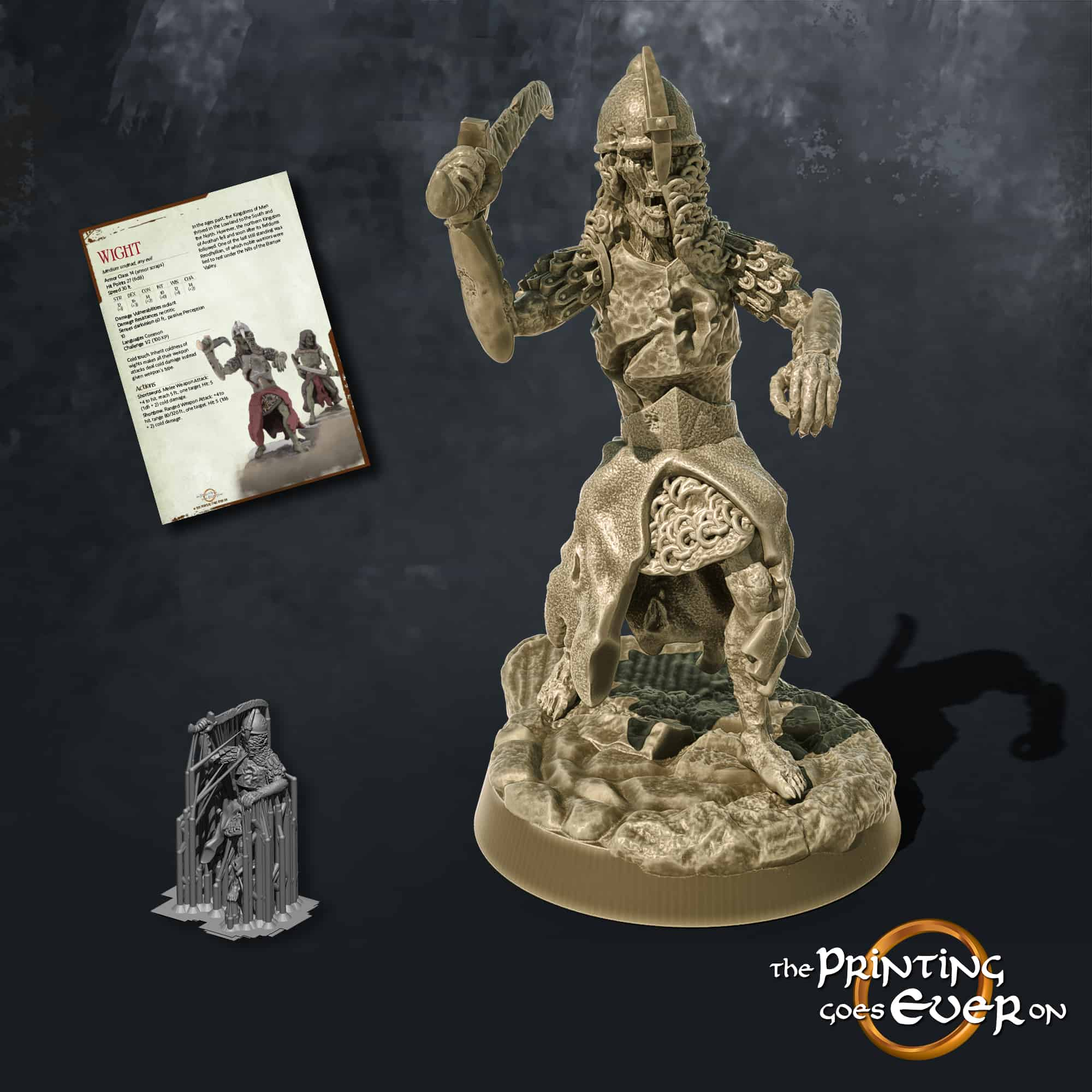 wight with sword 3d printable tabletop miniature from the printing goes ever on patreon august 2020 pack