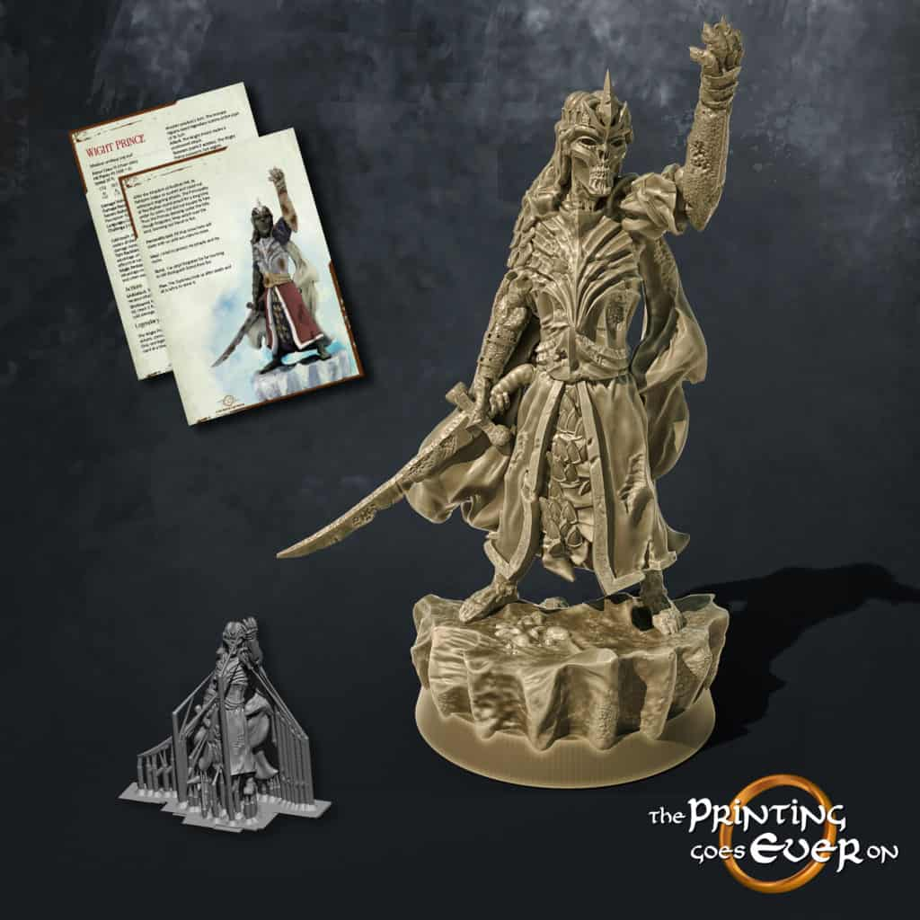 wight prince 3d printable tabletop miniature from the printing goes ever on patreon august 2020 pack