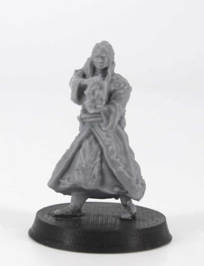 dallear elf sorcerer fireball spell 3d printable tabletop miniature photograph