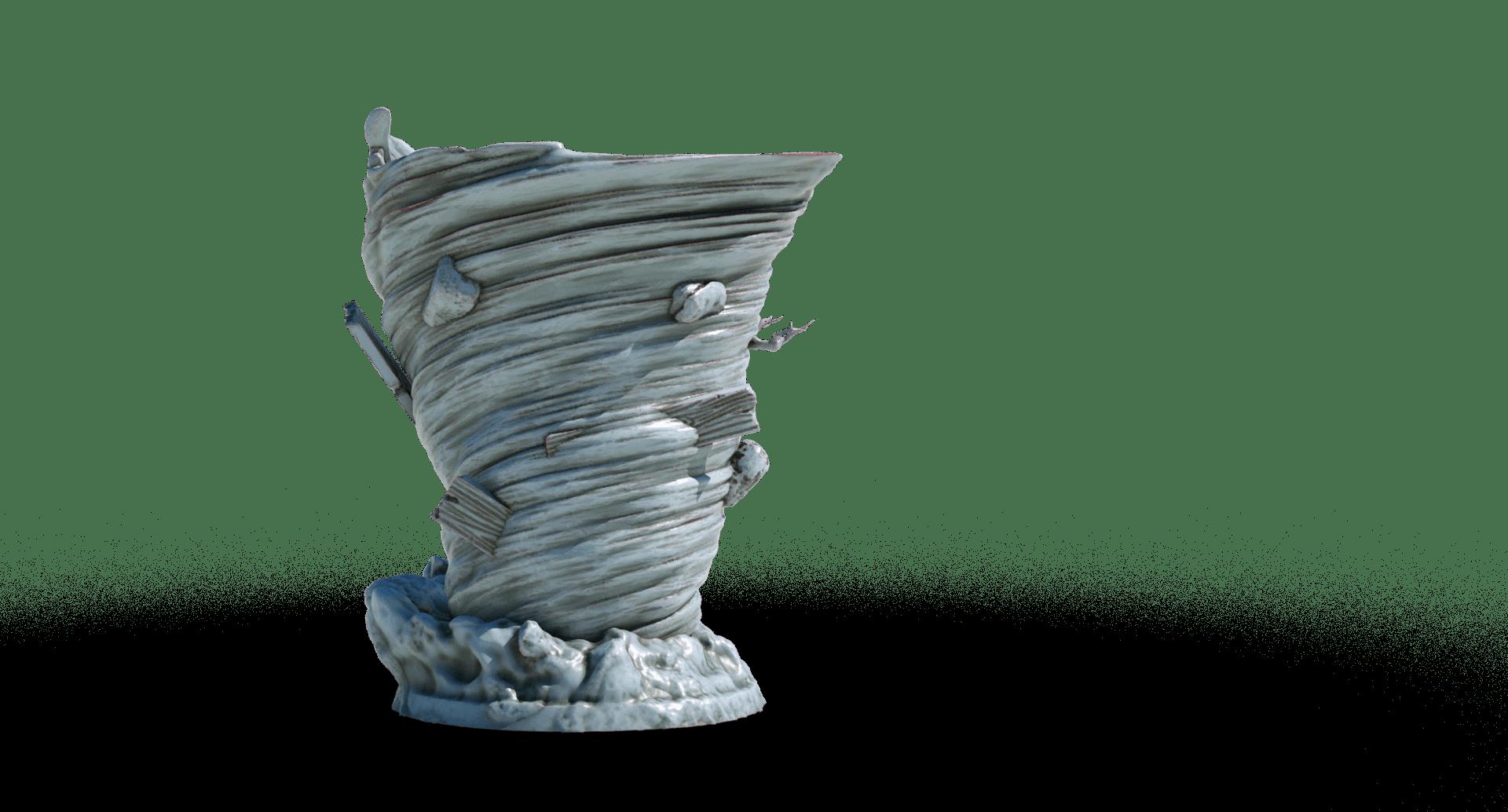 tornado 3d printable tabletop miniature