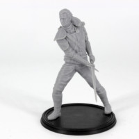 geralt of rivia 3d printable miniature from the printing goes ever on patreon free model photograph