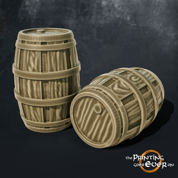 barrels 3d printable tabletop miniatures