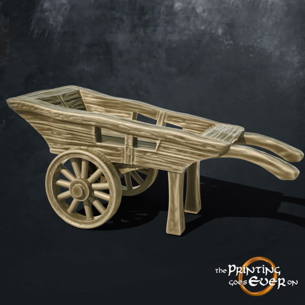 wooden cart 3d printable tabletop miniatures