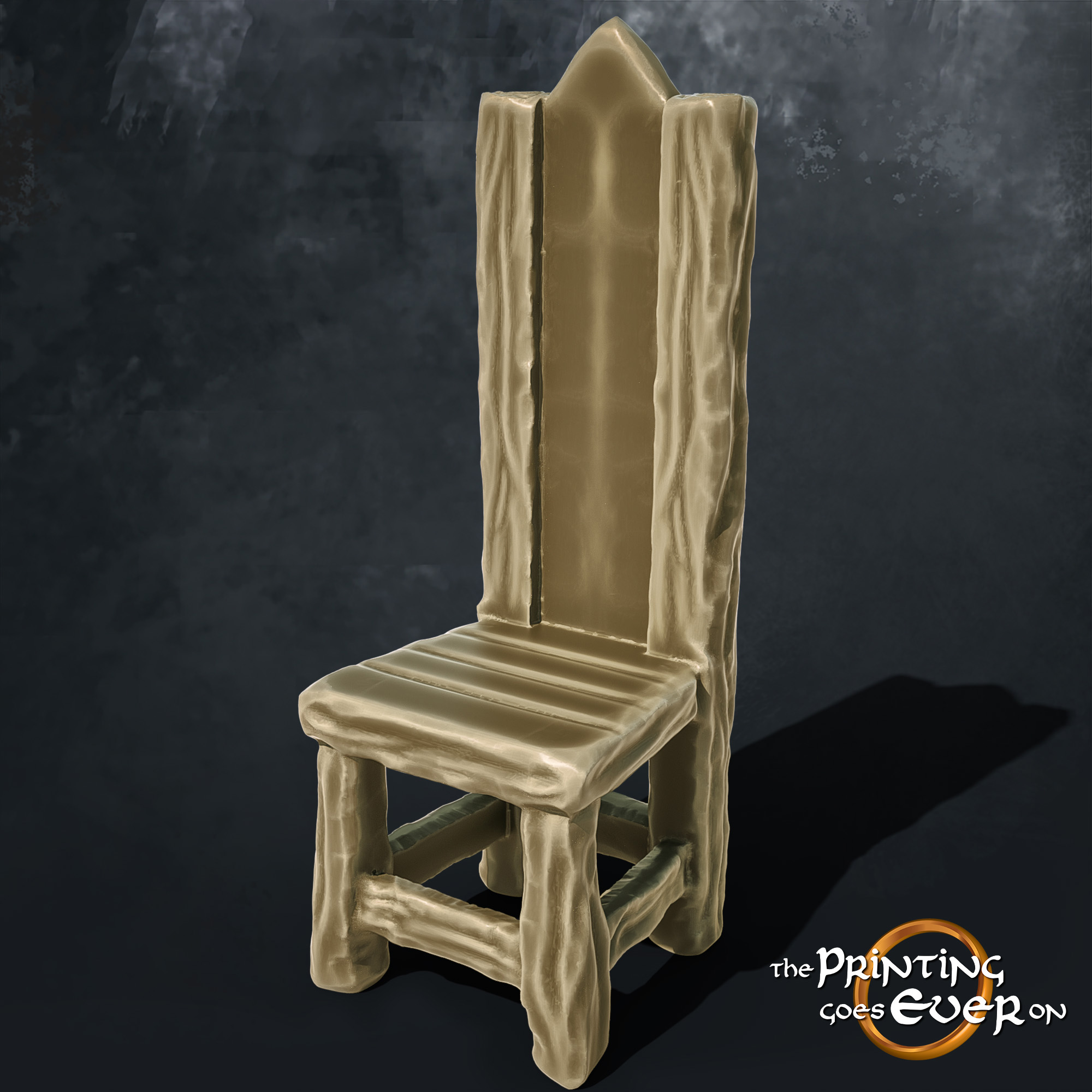 wooden chair 3d printable tabletop miniatures