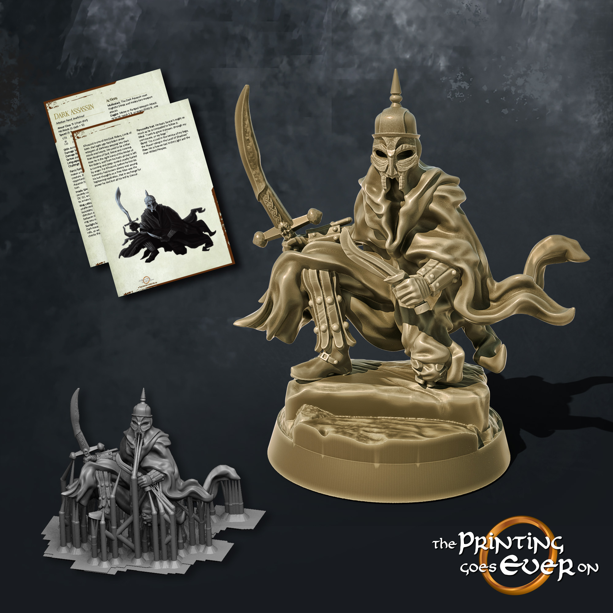 dark assassin wraith with sabre the printing goes ever on october 2020 patreon pack miniature