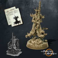 dark king wraith with two handed sword the printing goes ever on october 2020 patreon pack miniature