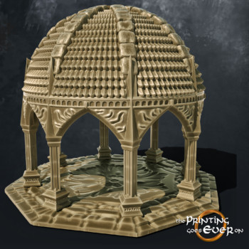 tower temple columns stairs the printing goes ever on october 2020 patreon pack miniature terrain diorama