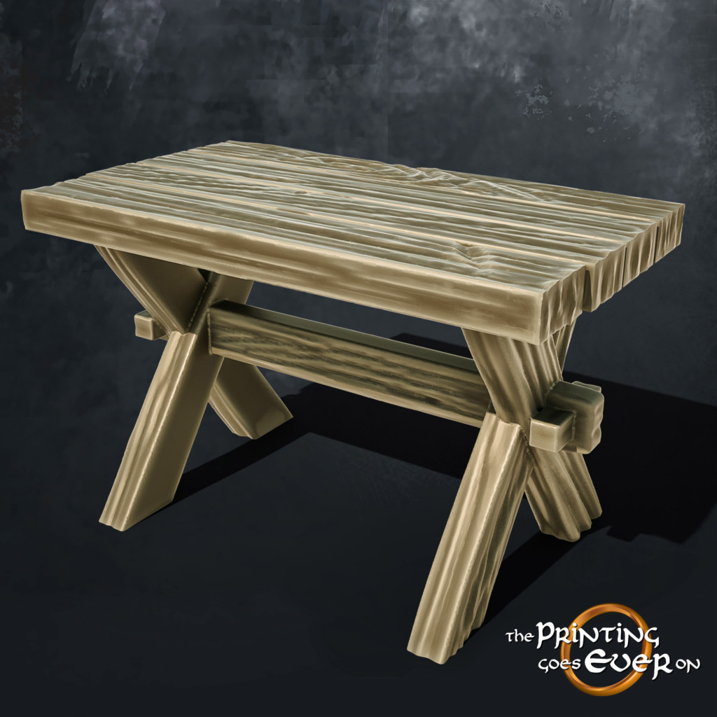wooden table 3d printable tabletop miniatures